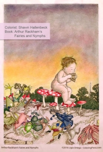 Arthur Rackham's Fairies and Nymphs colored by Shawn Hallenbeck