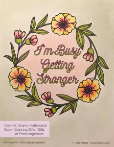 Coloring Gifts: Gifts of Encouragement colored by Shawn Hallenbeck
