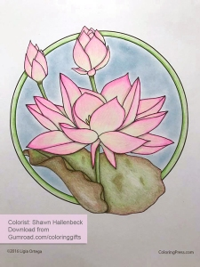 Artful Flowers colored by Shawn Hallenbeck