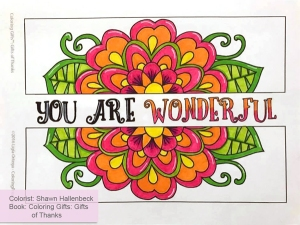 Colroring Gifts: Gifts of Thanks colored by Shawn Hallenbeck