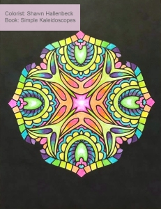 Simple Kaleidoscopes colored by Shawn Hallenbeck