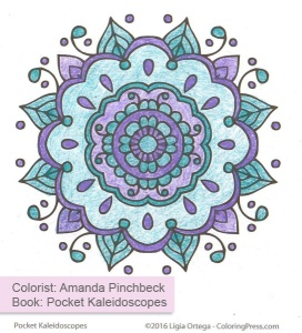 Simple Kaleidoscopes Colored by Amanda Pinchbeck