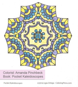 Simple Kaleidoscopes - Colored by Amanda Pinchbeck