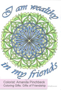 Coloring Gifts: Gifts of Friendship colored by Amanda Pinchbeck
