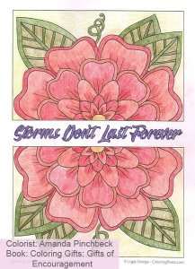 Coloring Gifts: Gifts of Encouragement Colored by Amanda Pinchbeck