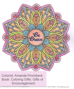Coloring Gifts: Gifts of Encouragement - Colored by Amanda Pinchbeck
