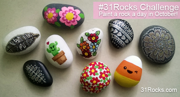 31Rocks Rock Painting Challenge Paint a Rock a Day in October