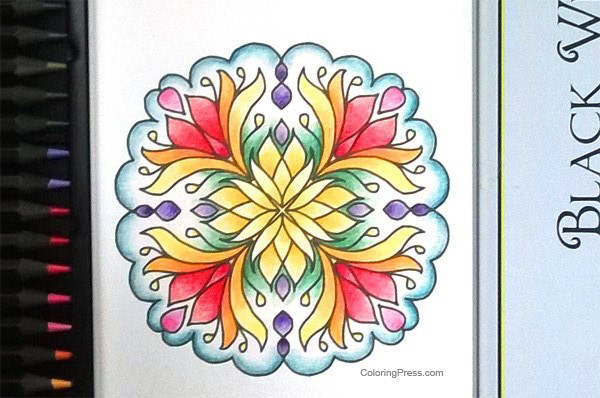 This Page Above Is From Simple Mandalas And I Colored It With Pencils The Third Cobra Set Amznto 2GKrWW3
