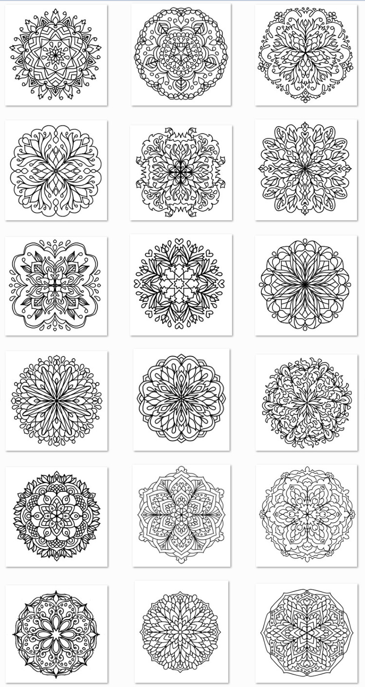 Simple Mandalas Coloring Book Thumbnails