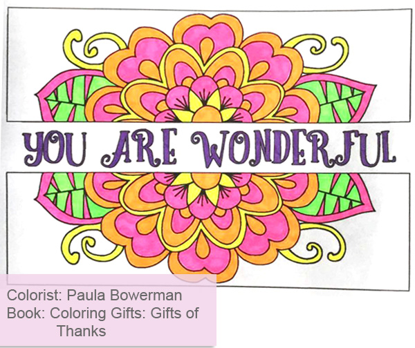 Coloring Gifts Of Thanks Adult Book