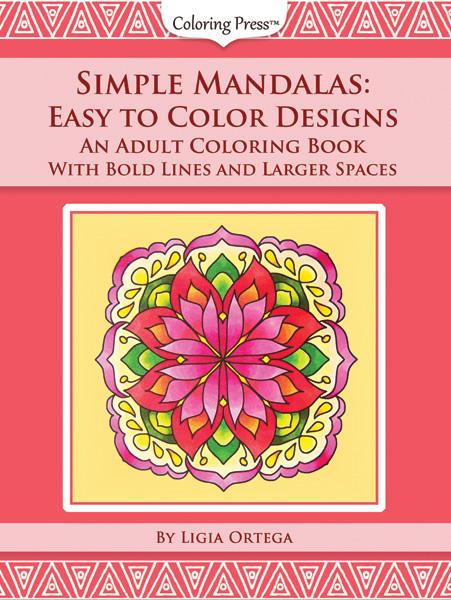 Simple Mandalas Adult Coloring Book Thumbnails