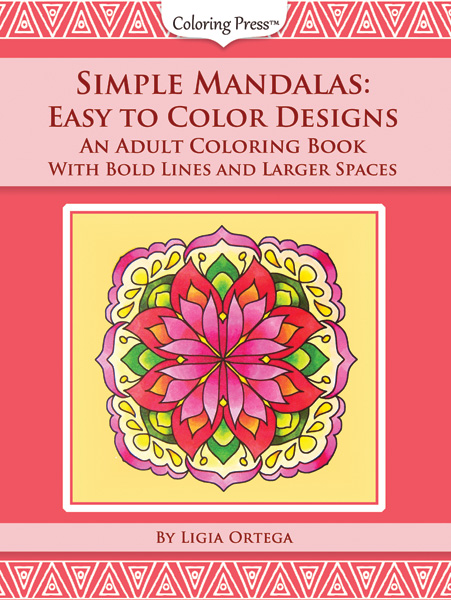 Simple Mandalas - Easy to Color Deisgns Adult Coloring Book