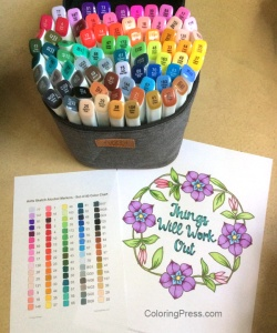 Arrtx Sketch Markers Set of 80 with color chart