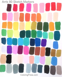 Arrtx Sketch Markers 80 Colors